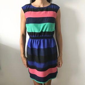 Ann Taylor LOFT striped colorblock dress